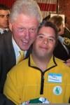 Teddy and President Clinton, October, 2009