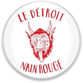 "Red ""nain rouge"" monster of Detroit"