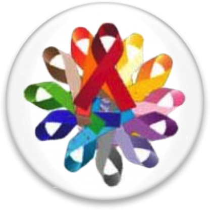 """Multiple colored ribbon formed into a""""flower"""""""